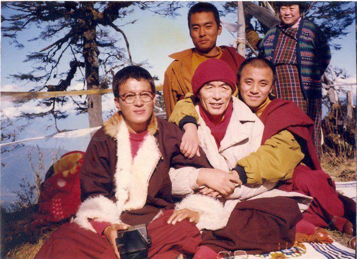Nyoshul Khen Rinpoche with Garab Dorje Rinpoche (son of Thinley Norbu Rinpoche) and Namkhai Nyingpo Rinpoche