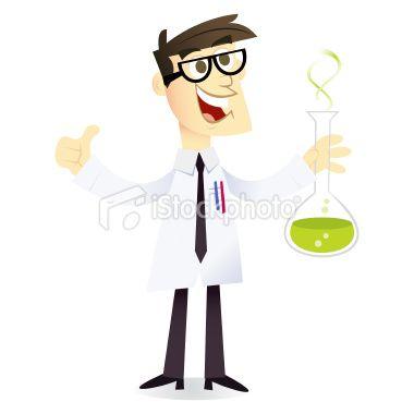 Cartoon Geek Scientist