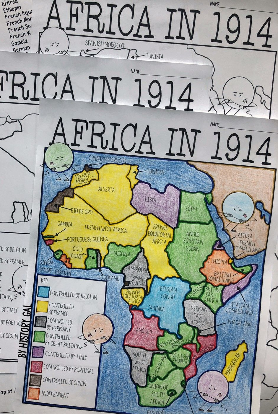 Imperialism in Africa Map Activity | History Gal | Map activities
