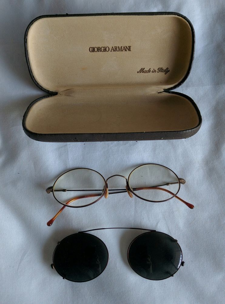 1b0523ecaca7 GIORGIO ARMANI GLASSES CLIP ON SUNGLASSES CASE  ARMANI. Find this Pin and  more on Vintage ...