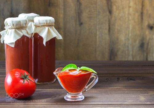 homemade ketchup in a glass bowl. tomato sauce by komarinansk  IFTTT 500px