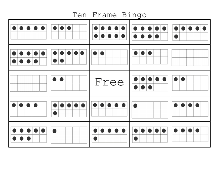 Ten+Frame+Bingo Class set made and ready to print! | Math ...