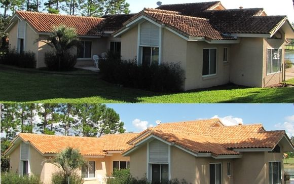 Starting This Monday Through 8 13 Free Driveway Cleaning With Softwash Of Your Roof Pressure Washing Roof Cleaning Cleaning Gutters