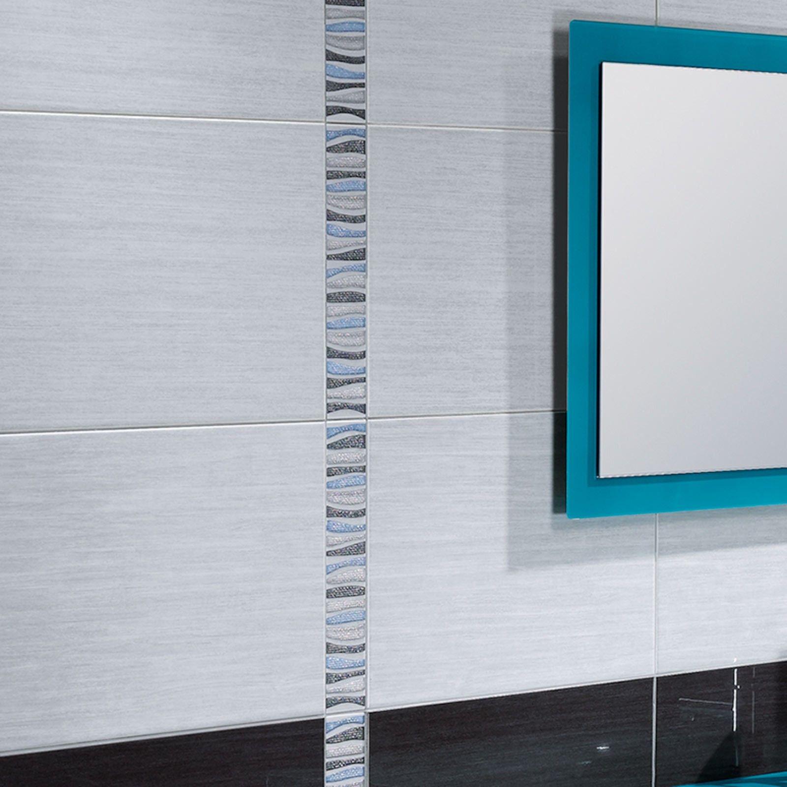 Forum Branco Ceramic wall Tile - Black And White Bathroom Ideas ...