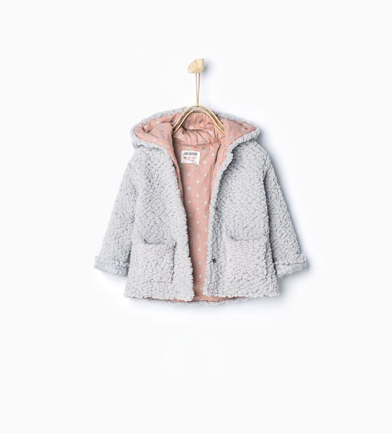 Knitted Three Quarter Length Coat With Hood Coats Baby Girl 3 Months 3 Years Kids Kinderkleidung Madchen Kleidung Modische Madchen
