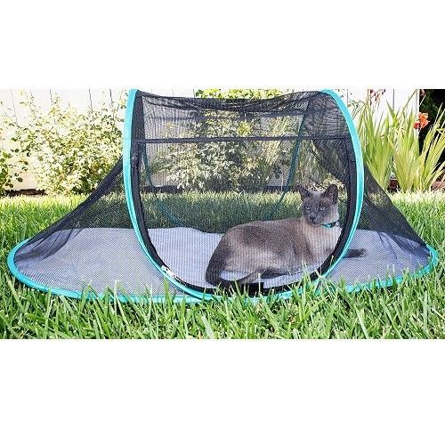 Outdoor Cat Enclosure Tent Safety Shelter Cage Small Pets Portable Travel Indoor  sc 1 st  Pinterest & Outdoor Cat Enclosure Tent Safety Shelter Cage Small Pets Portable ...