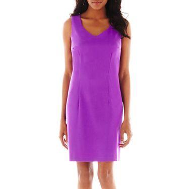 Alyx-Petite Sleeveless Sheath Dress, 6 Petite , Blue from