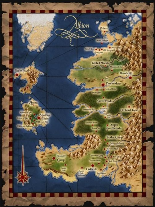 The map world of albion for fable fable pinterest the map world of albion for fable gumiabroncs Image collections