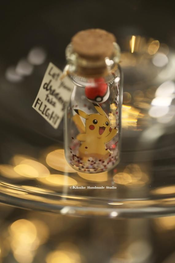 PokemonPokeballbirthday Giftmessage In A BottleminiaturesPersonalised Giftlover GiftValentine
