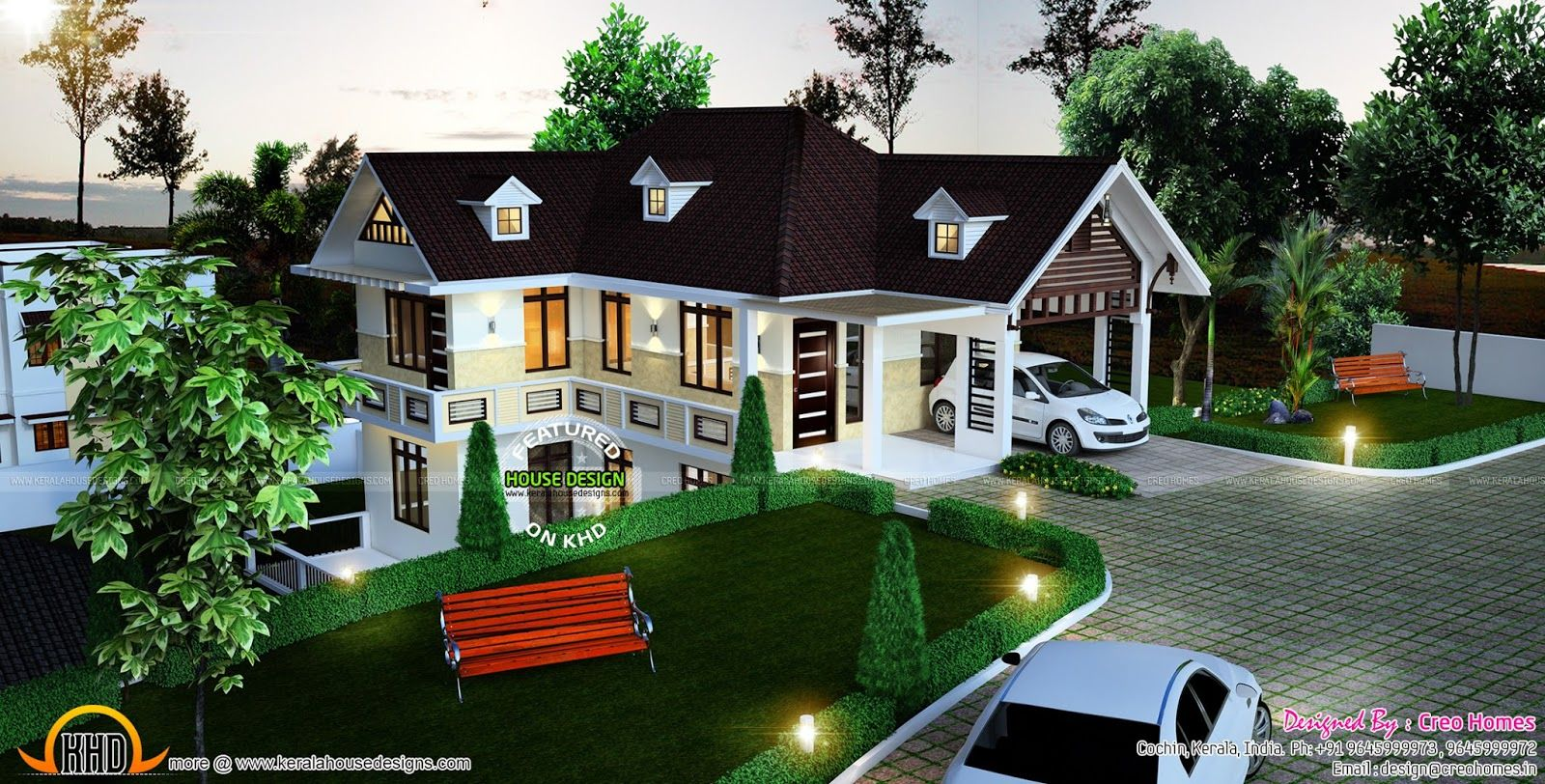 Beautiful Hillside Home Plan Kerala Design And Floor Plans Another That Would Lend Itself Container Use House