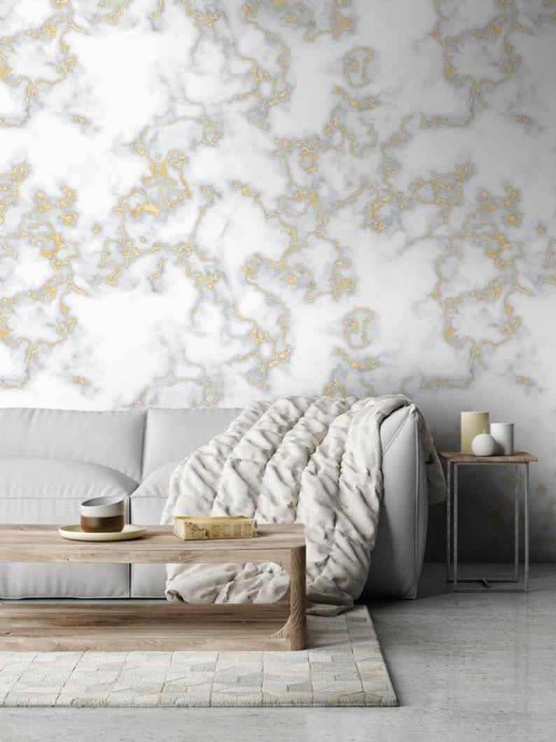 Soft Marble Wallpaper Self Adhesive Wallpaper Wall Mural Etsy Grey Wallpaper Bedroom Room Wallpaper Designs Pink And Grey Wallpaper