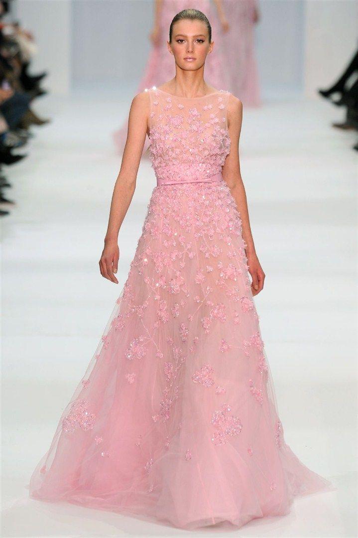 Elie Saab | Vestidos | Pinterest | Rosas rosadas, Rosas y Vestiditos