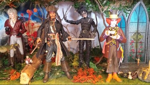 David Bowie und Johnny Depp x3 #Actionfigure #JohnnyDepp #DavidBowie