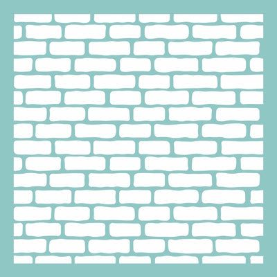 12 X 12 Brick Wall Pattern Template Stencil For Use On