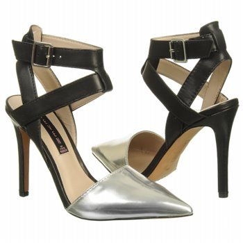 """Pointy-toed ankle-strap pumps are """"It"""" shoes this season. Steven by Steve Madden's metallic-toe versions would work as well with cuffed jeans as they would with a midi skirt or cropped trousers; $119."""