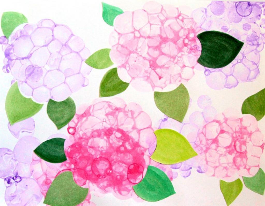 Connu Peindre avec des bulles! Réaliser de magnifiques fleurs d  AS52