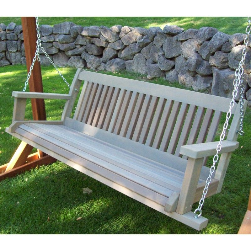Wood Country Cabbage Hill Red Cedar Porch Swing Porch