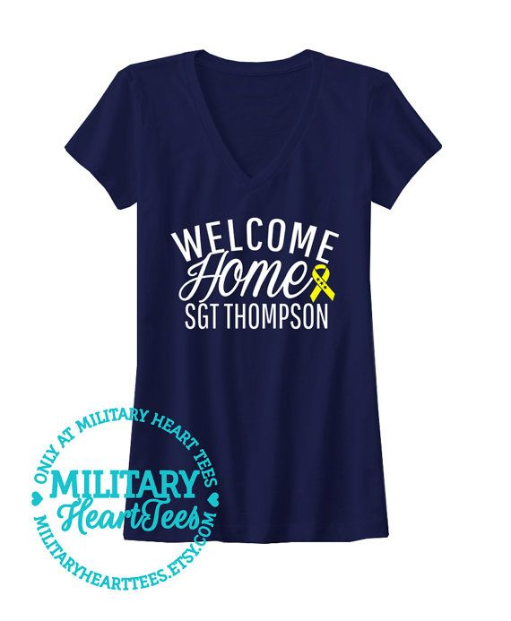 Welcome Home Custom TShirt Army Air Force by MilitaryHeartTees