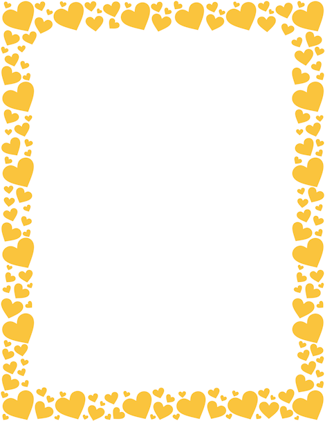Printable Yellow Heart Border Free Gif Jpg Pdf And Png S At