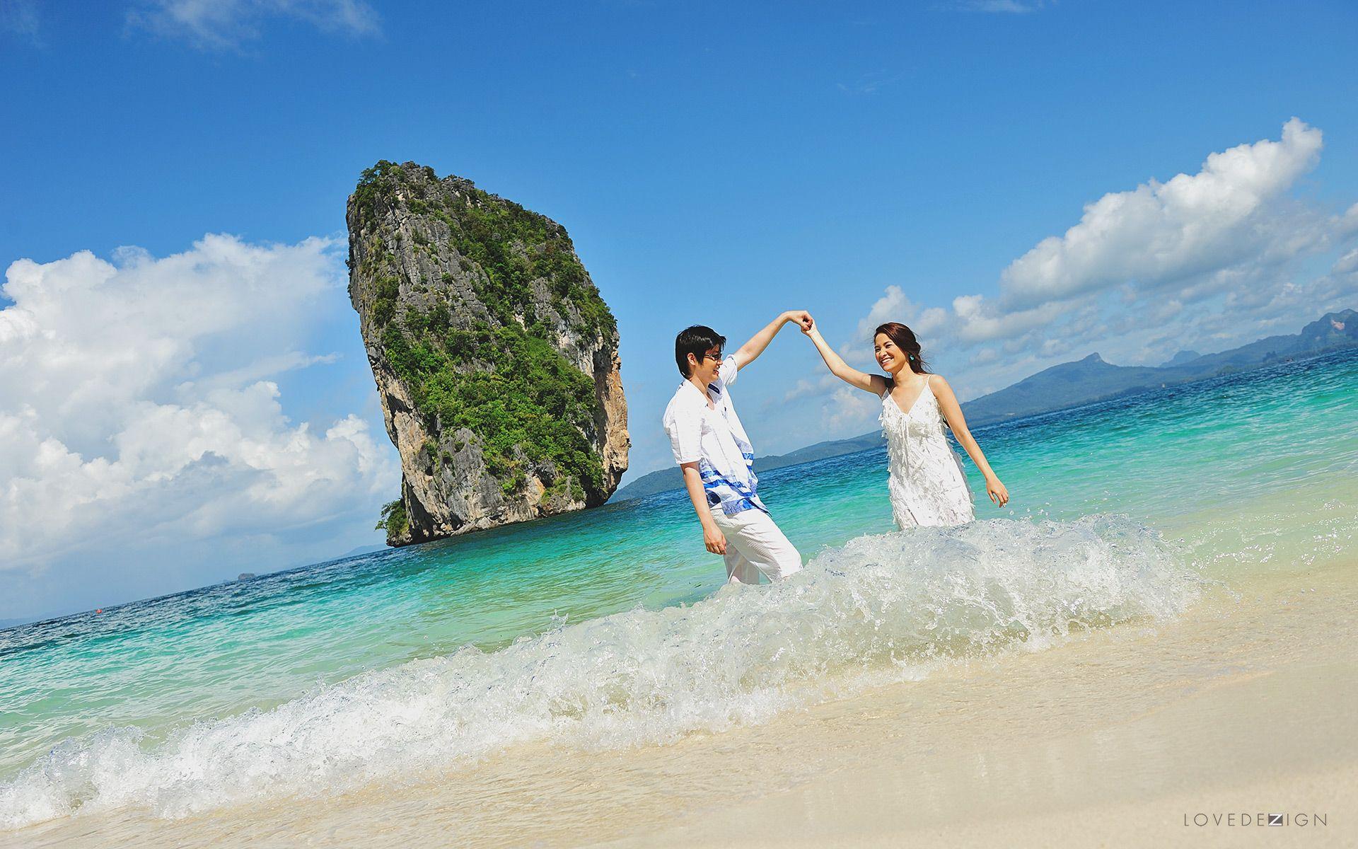 engagement photo from koh poda poda island krabi