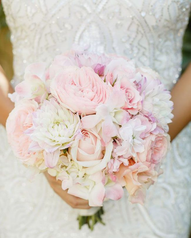 Blush Pink Wedding Bouquet Allyson Wiley Photography