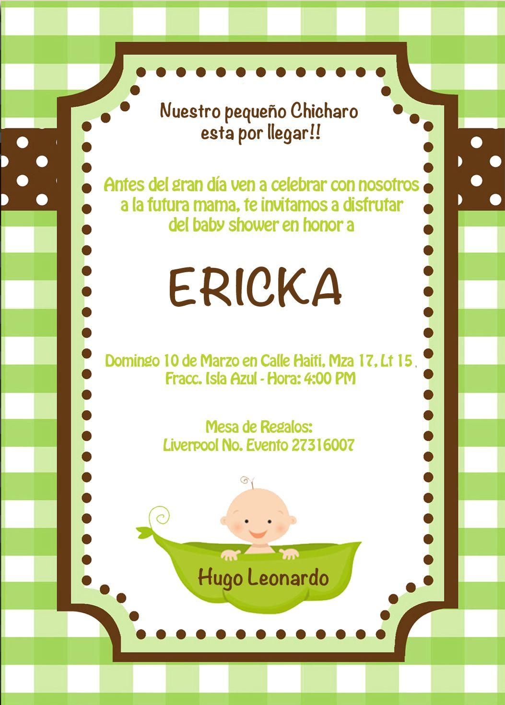 Invitacion Baby Shower Ericka   Plantillas   Pinterest   Fondos para ...