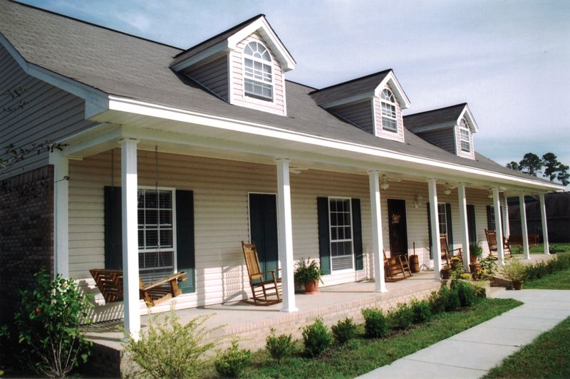 Blythewood Place Acadian Home Porch House Plans Modern Farmhouse Plans House With Porch