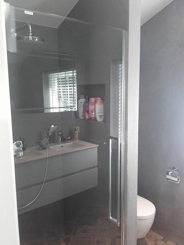 Gestucte badkamer in Nunspeet. Gemaakt met Beal Morthex ...