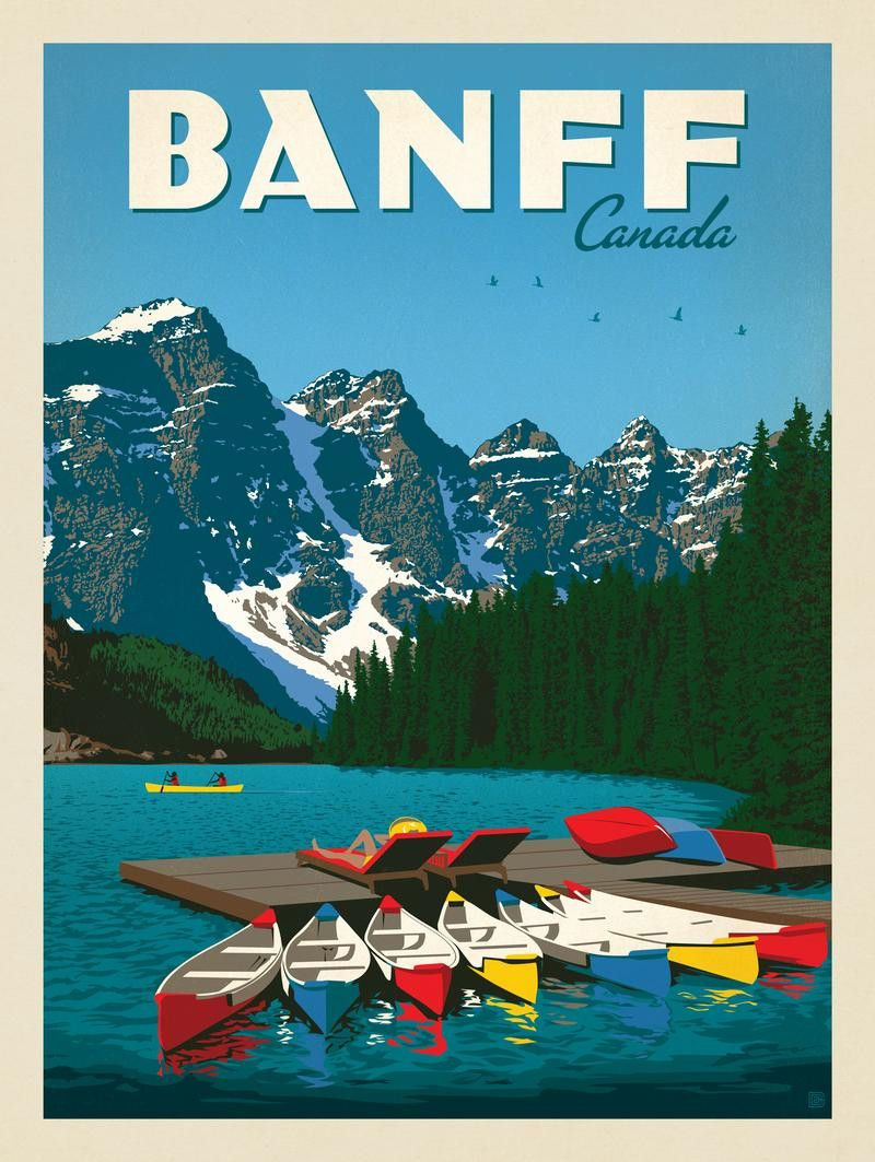 Anderson Design Group World Travel Canada Banff Posters