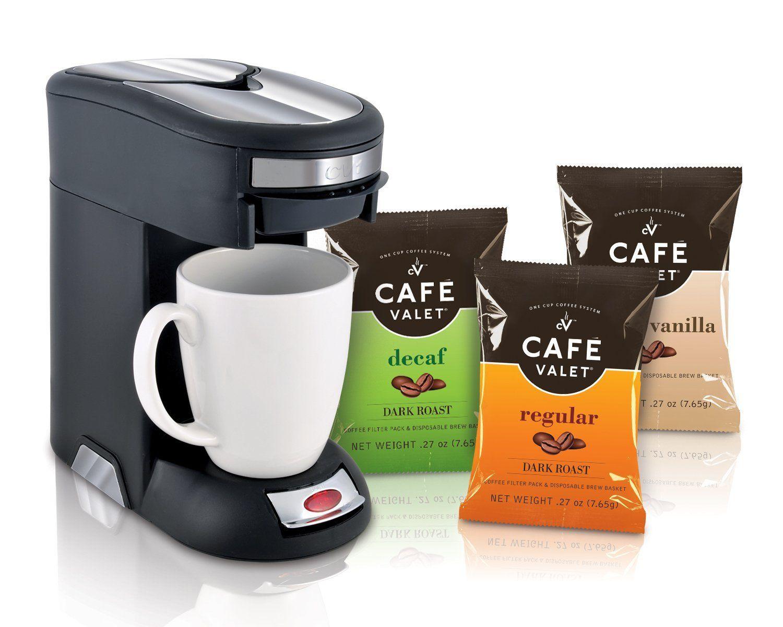 Café Valet Black/Silver Single Serve Coffee Brewer