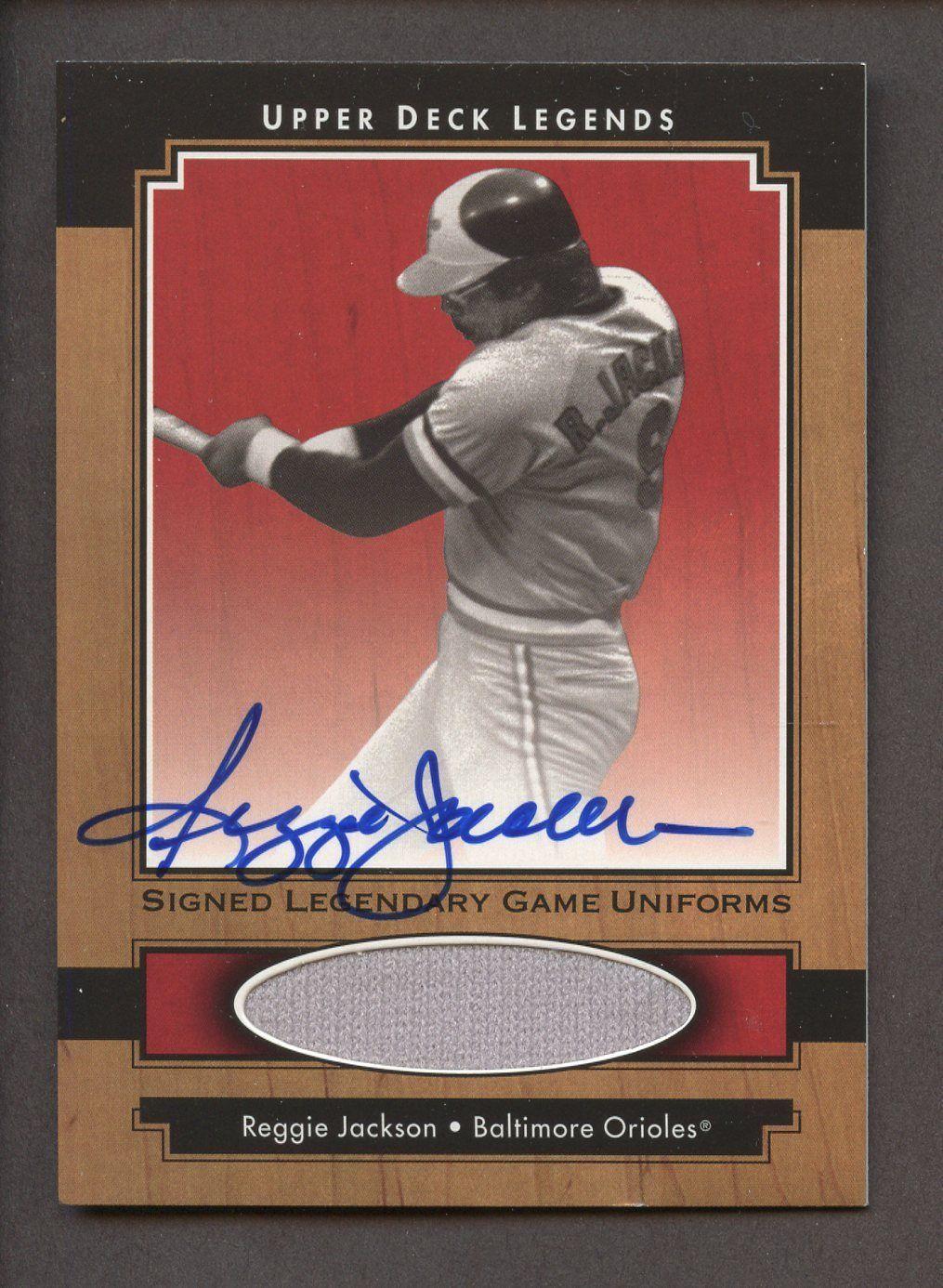 d28449926 2001 Upper Deck Legends Game Uniform Reggie Jackson Jersey AUTO   BaseballCards