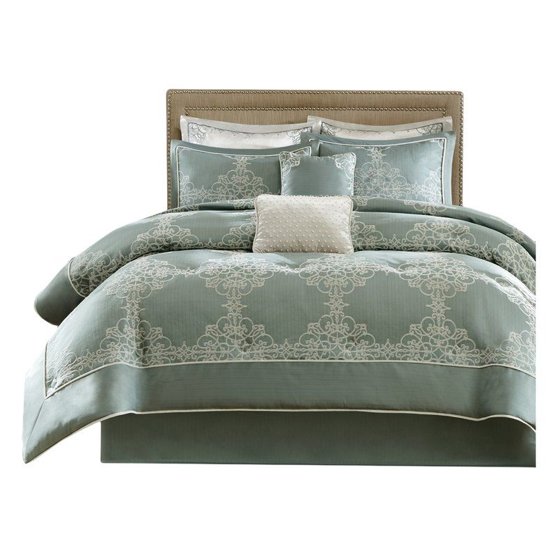 Spruce Up Your Space With The Madison Park Signature Newhaven Collection This Elegant Comforter Set Features Comforter Sets Elegant Comforter Sets Comforters