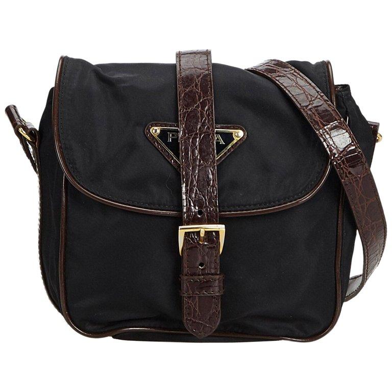 449c8cc46f Prada Black Nylon Fabric Crossbody Bag Italy in 2019   Products ...