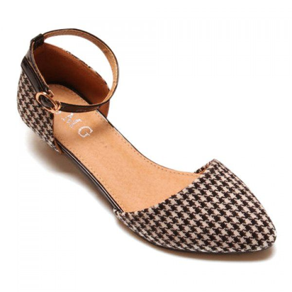 447acb91a28 Stylish Pointed Toe and Weaving Design Women s Flat Shoes