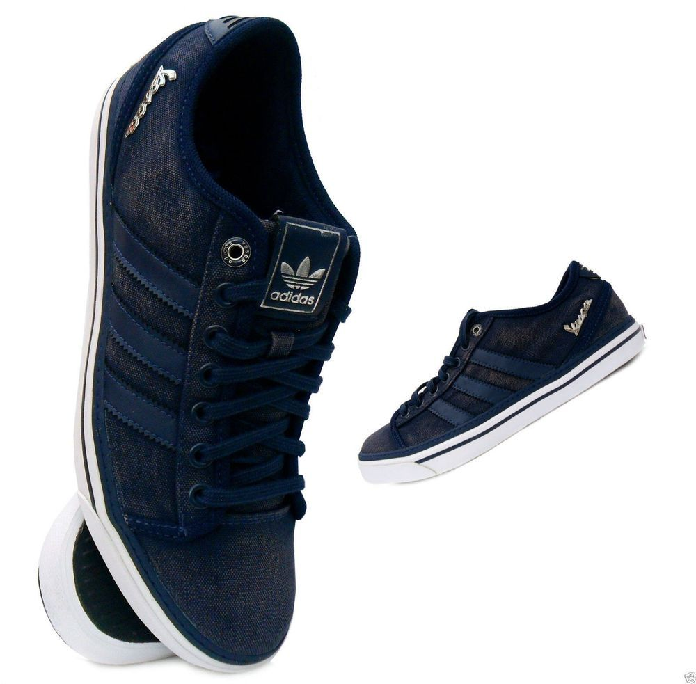 Adidas Originals Vespa GS Lo Navy Denim Sizes UK 7 - 11.5 �39.95 Free UK