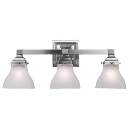 $99--which looks nicer?? Albany Brushed Steel 20 - lampen für badezimmerspiegel