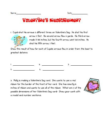 This Valentine S Day Themed Packet Contains Word Problems A