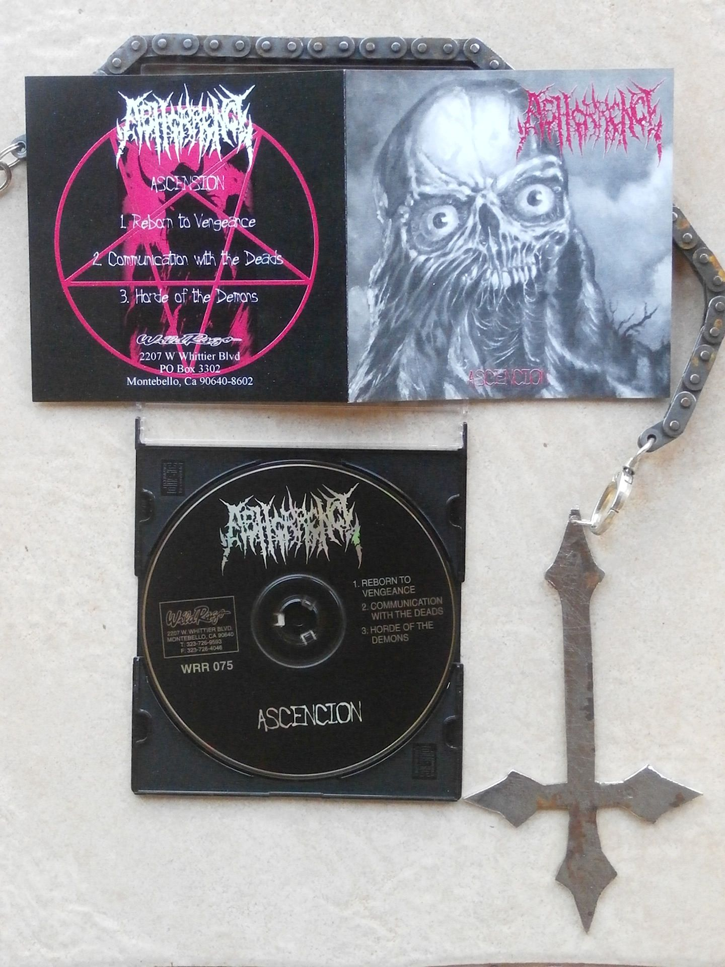 ABHORRENCE orginal trinity w/ Kleber Varnier that give to the band worlwide visibility, here a USA stuff - WILD RAGE RECORDS from 1998. Rigths: FTP - ACDAM 7 management - c+p.