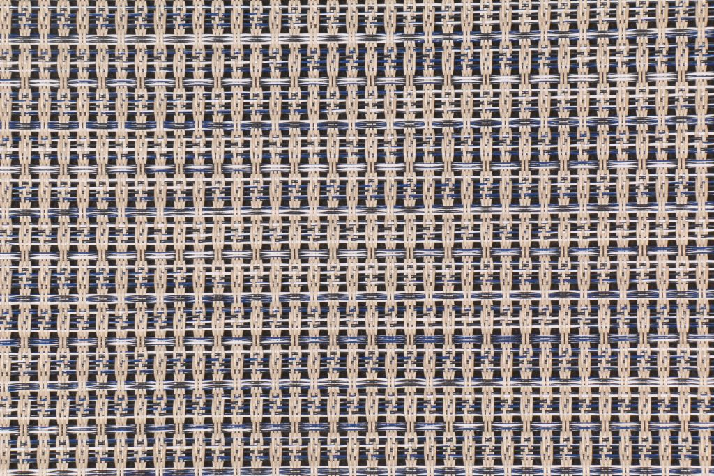 Phifertex Cortez Woven Vinyl Mesh Sling Chair Outdoor Fabric In Navy This Mesh Fabric Is Ideal For Sling Chair Repai Outdoor Fabric Sling Chair Outdoor Chairs