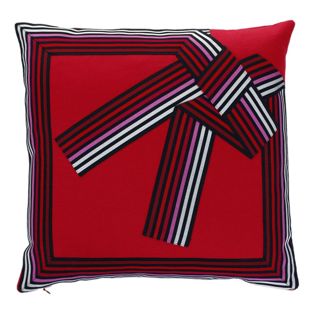 Discover the Sonia Rykiel Maison Tendre Cushion - Rouge - 45x45cm at Amara