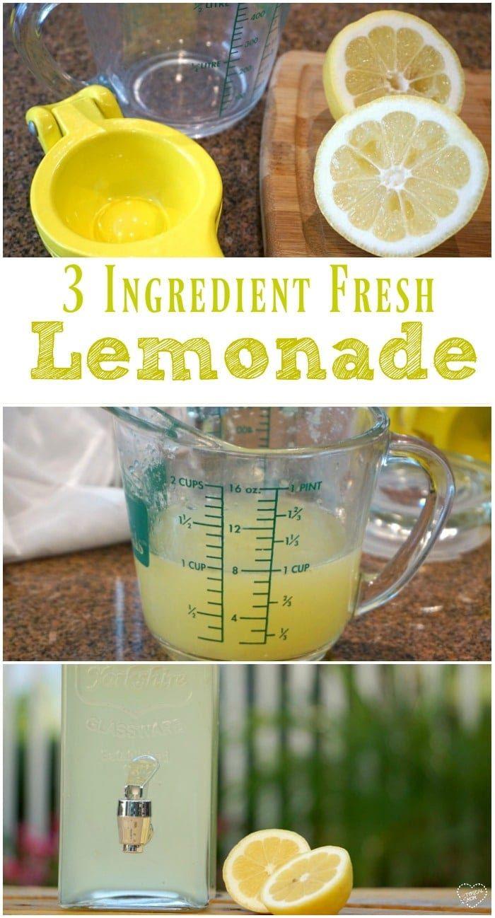 Fresh Squeezed Lemonade Recipe
