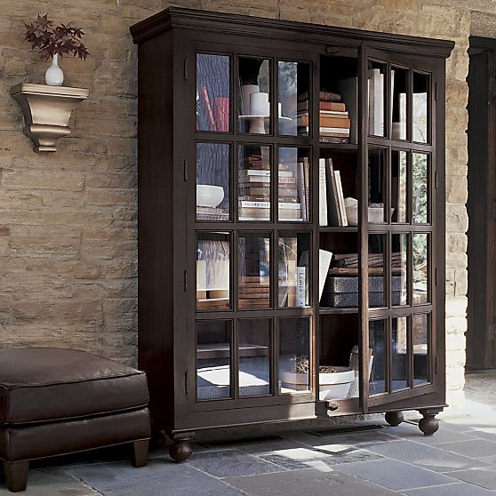 Faulkner Library Cabinet in Organizing Storage | Crate and Barrel ...