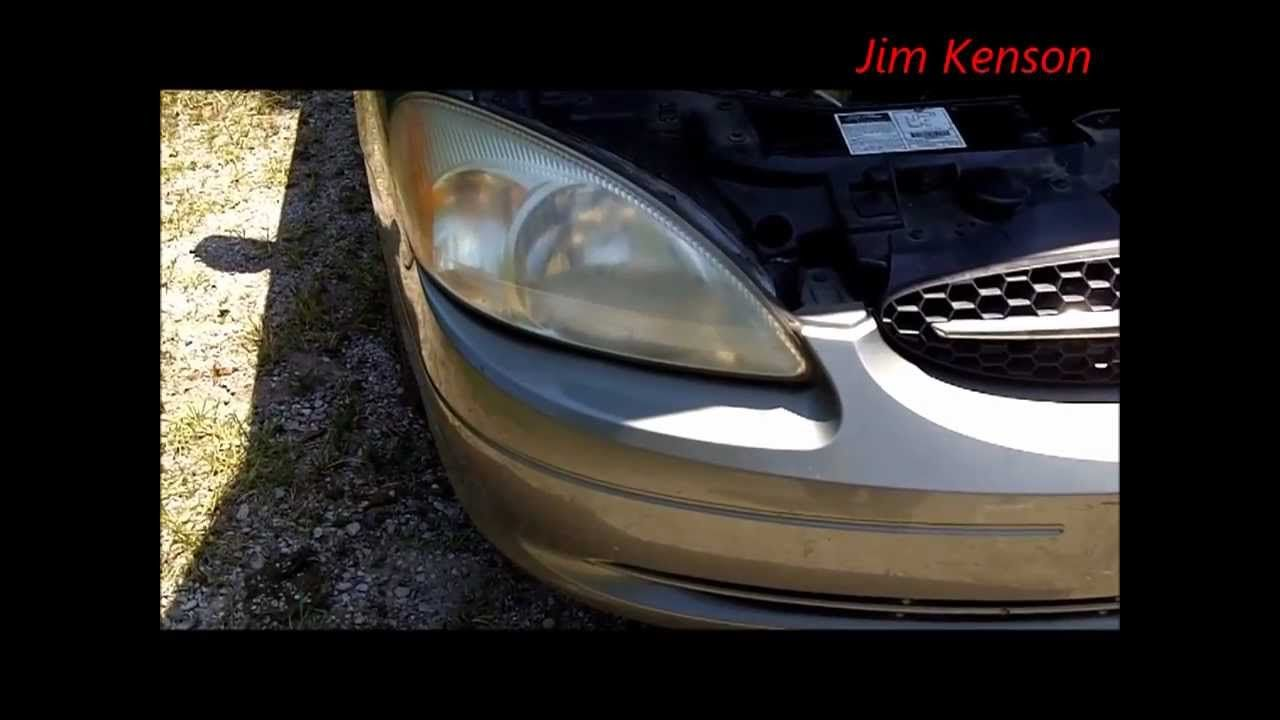 Ford Taurus Headlight Replacement This Video Shows How To Change