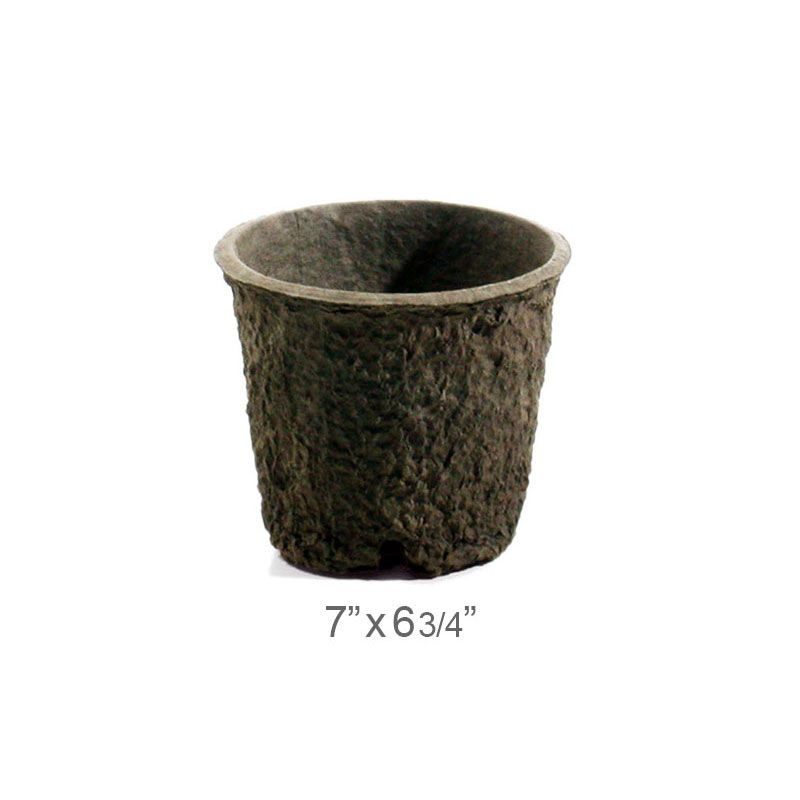 Western Pulp Round Pots Biodegradable