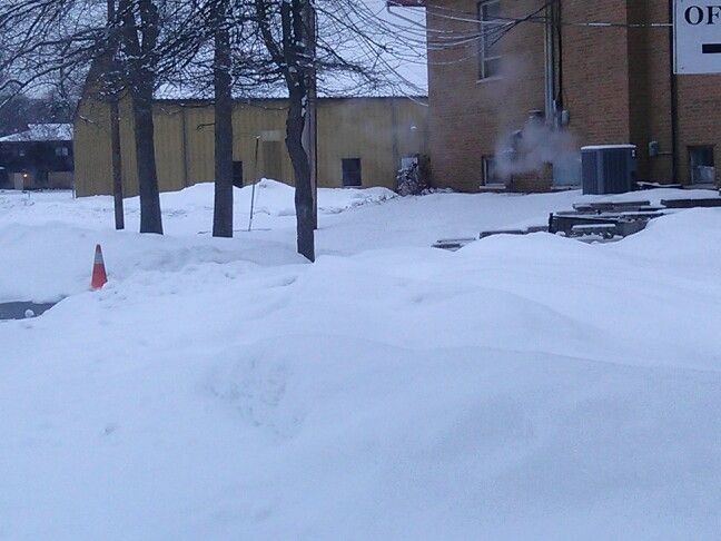 All the snow at work,2014,feb