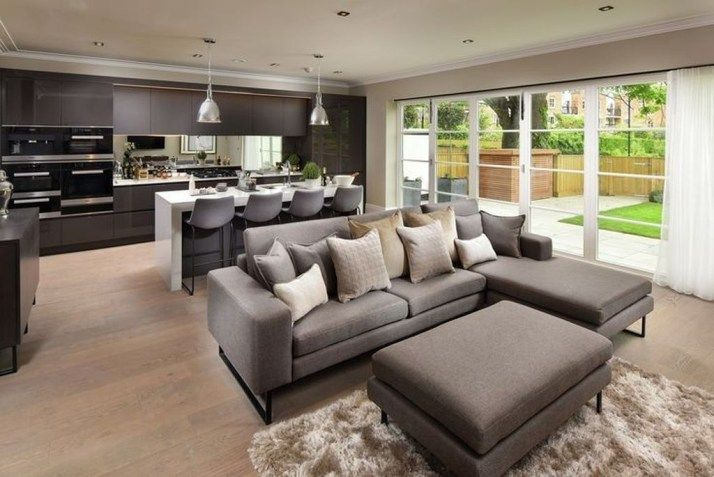 20 Stunning Open Plan Kitchen And Living Room Design Ideas In 2020 Open Plan Living Room Open Plan Kitchen Living Room Livingroom Layout