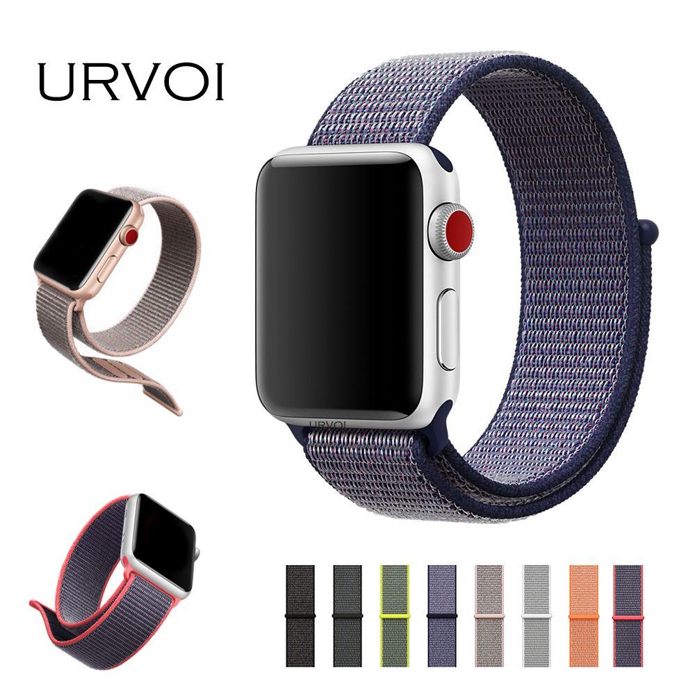 2f4f5f35515 URVOI Sport loop banda per apple osservare serie 3 2 1 cinghia per iwatch  doppio-strato di tessuto di nylon breathabe hook-and-loop fastener