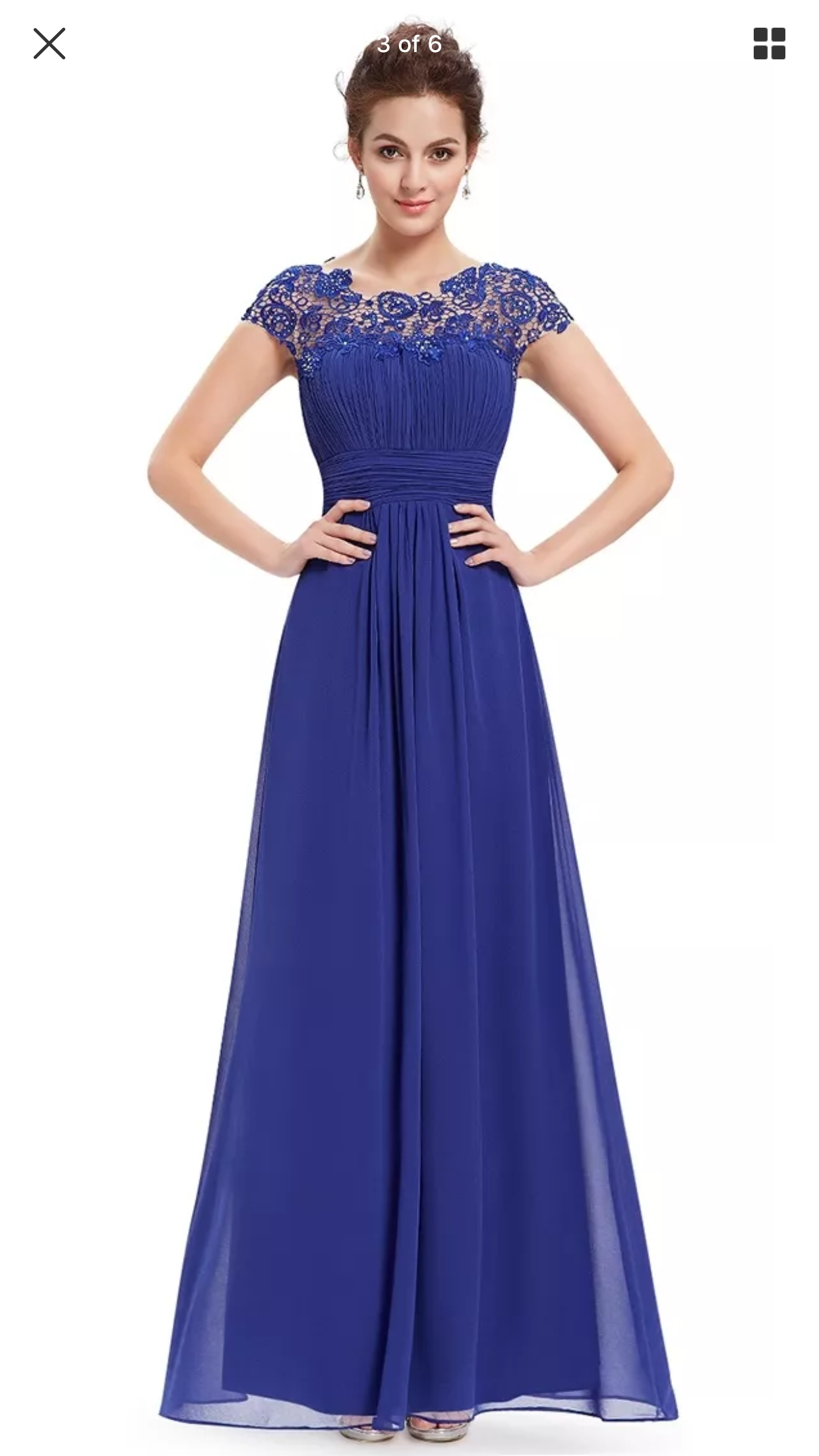 UK Ever-Pretty Elegant Long Chiffon Prom Dresses Formal  Evening Ball Gown 09993