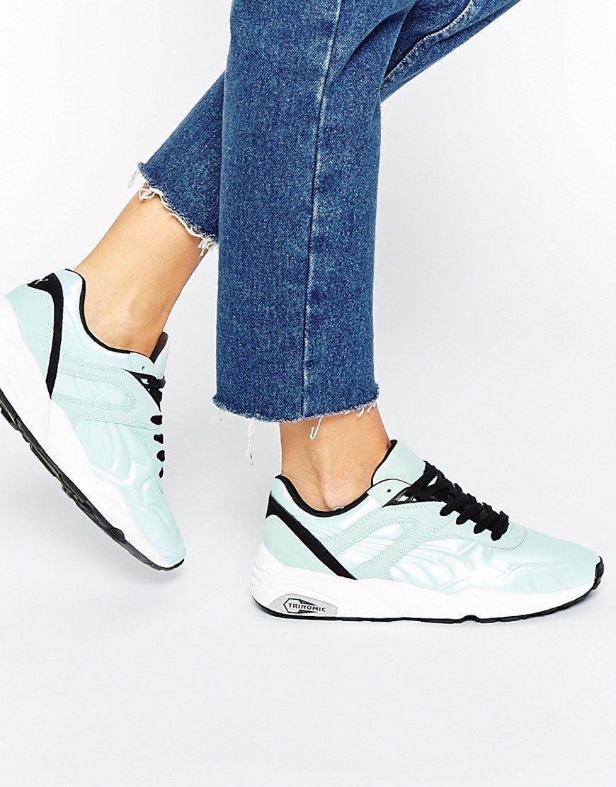 hot sale online a21f5 bcb1c ... shoes for women on sale. Puma R698 Matt   Shine Aqua Trainers