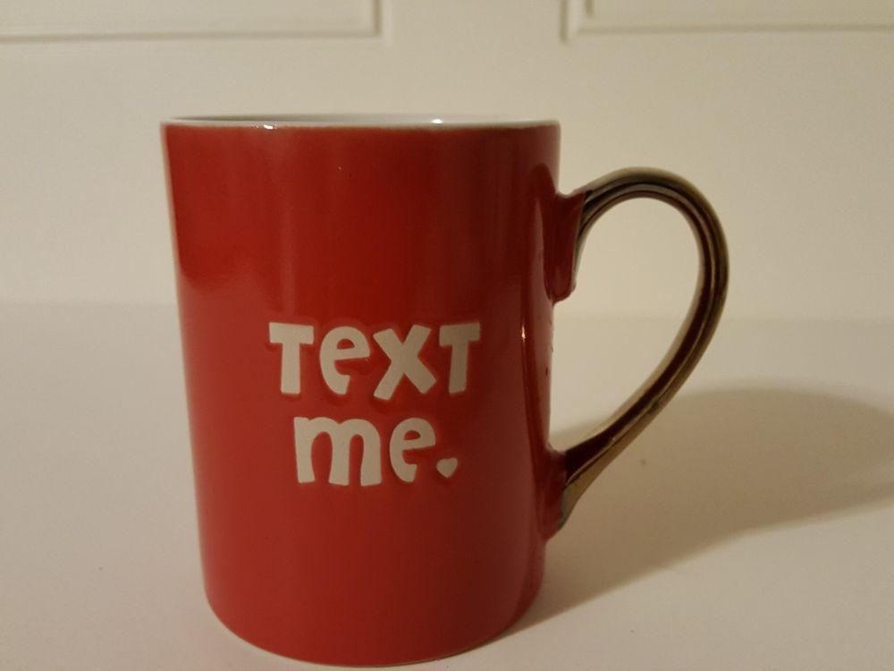 Maude Borup Text Me Red Coffee Tea Ceramic Mug Maudeborup